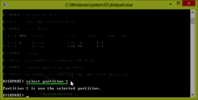 select partition 1 Partition