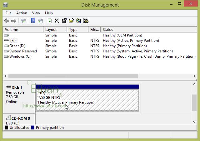 USB Drive Disk Management