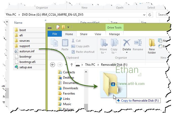 Copy  Microsoft Windows USB Drive