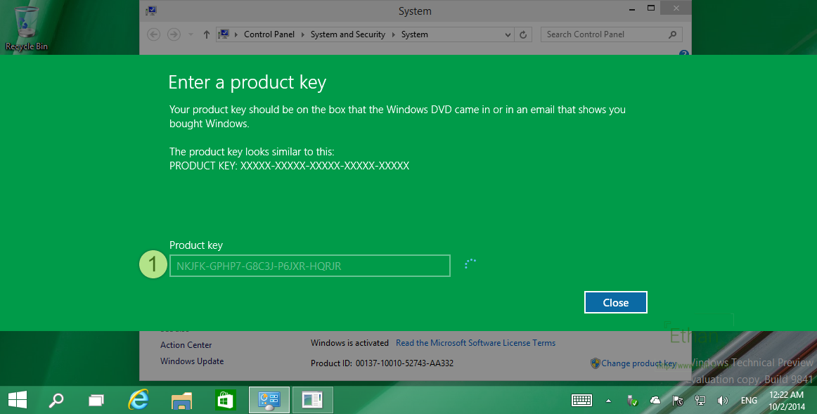 Review install microsoft windows 10 technical preview for Window 10 product key